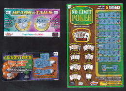 MALTA - 3 MALTESE  LOTTERY TICKETS - - Lottery Tickets