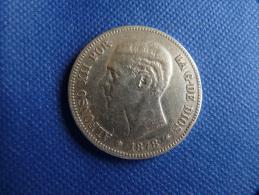 Espagne Spain España 5 Pesetas Argent Silver 25g 0,9 Alfonso XII 1878  Buena Conservación Ver Fotos Exactas - Colecciones