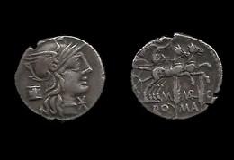 MARCIA. ( MARCUS . MARCIUS  ) . DENIER . 134  AV . JC . - 1. Republiek (280 BC Tot 27 BC)