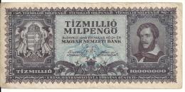 HONGRIE 10 MILLION MILPENGO 1946 VF P 129 - Hungary