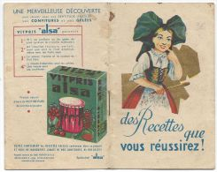 ALSA - Petit Carnet De Recettes Avec La Levure Alsacienne - Publicités