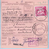 N°1069 Op Internat. Postwissel, Afst. HAMME (VL) 29/12/1969 Naar EINDHOVEN NV PHILIPS 06/01/1970 - 1953-1972 Bril