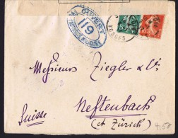 1917  Lettre De St-Dié Pour La Suisse  Censurée «Ouvert Par L'autorité Militaire  1119»  Tarif Frontalier - France