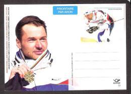 Skiing Estonia 2009 MNH Stationary Card #53 Andrus Veerpalu  - Skiing World Champion - Estland