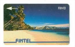 FIDJI Ref MV Cards : FIJ-FI-2  CN : 1CWFB006620 Palms & Beach 10 500 Ex Rare - Fidji