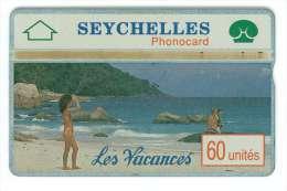 SEYCHELLES Ref MV Cards : SEY-07  60 U Holidays 1  CN : 002A  4000 Ex. Rare - Seychelles
