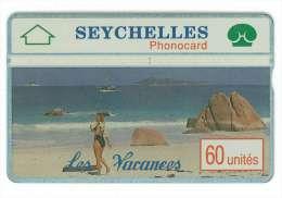SEYCHELLES Ref MV Cards : SEY-08  60 U Holidays 2  CN : 002A  4000 Ex. Rare - Seychelles