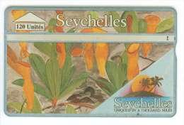 SEYCHELLES Ref MV Cards : SEY-30  120 U Plante Carnivore CN : 422A  20 000 Ex. - Seychelles