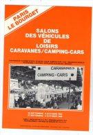 Publicité , Salons Des Véhicules De Loisirs , Caravanes / Camping Cars , 1985 , 4 Pages , Photos - Advertising
