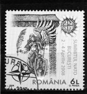 ROMANIA / RUMANIA / ROUMANIE  Año 2008  Yvert Nr.  Usada  NATO - Usado