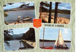 CP - PHOTO - BASSIN DE SAINT FERREOL - LE BASSIN - LA PLAGE - LA DIGUE - DANS LA MONTAGNE NOIRE - 9110 - LANCY - MULTIV - Saint Ferreol