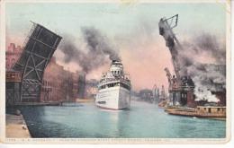 S.S.  ROOSEVELT  Thru  STATE  STREET  BRIDGE  1918 - Chicago