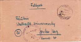 Feldpost WW2: Schule VIII Für Fahnenjunker Der Infanterie (3. Inspektion/II) In Hannover-Wiesenau Dtd Hannover Flughafen - Militares