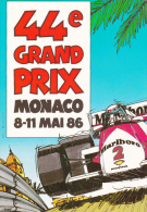 SPORT AUTOMOBILE  44ème GRAND PRIX DE MONACO 1986 - Cartes Postales