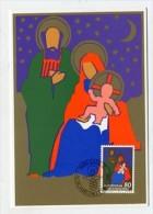 LIECHTENSTEIN  - AK 156422 MC MK/Nr.28 Weihnachten 1981 - Hl. Familie - Cartes-Maximum (CM)