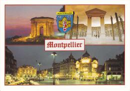 34 MONTPELLIER - MULTIVUES - BLASON - CHATEAU D'EAU - ED. DU SOLEIL -  NEUVE - Montpellier
