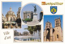 34 MONTPELLIER - MULTIVUES - BLASON - VILLE D'ART - ED. MERIDIONALES - NEUVE - Montpellier