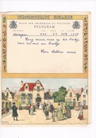 Telegram  1937 Télégramme  Huwelijk Mariage Wedding Greeting From Leon Lobbens Amez - Faire-part