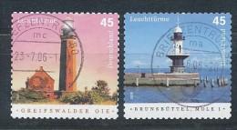 GERMANY  Mi.Nr. 2478-2479a Leuchtürme- Used - Used Stamps