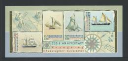 1992 Special Mini Sheet  500th Anniversary Columbus 1992 Issue  Complete Mint Unhinged Gum - Blocks & Sheetlets