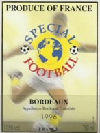 Vin De Bordeaux 1996 SPECIAL FOOTBALL - Etiquette Neuve - Soccer