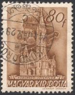Hungary,  80 F. 1943, Sc # 596, Mi # 721, Used - Hungary