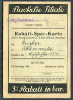1940 Germany Munchen Backdie Rabatt Marken Spar Karte - Advertising