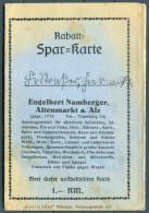 Germany Munchen Engelbert Namberger Rabatt Marken Spar Karte - Advertising