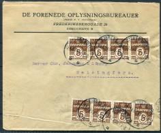 1924 Denmark Copenhagen - Helsinki/Helsingfors DE FORENEDE OPLYSNINGSBUREAUER United Information Agency Brief - Covers & Documents