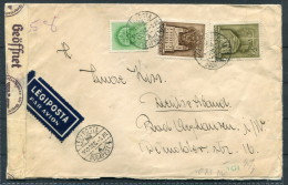 1940 Hungary Budapest German / Hungarian Censor Airmail Cover To Germany