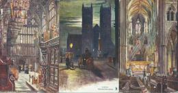 Angleterre Westminster Abbey London Lot De 3 Cpa By Oilette - Other