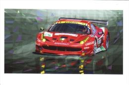 24 Heures Du Mans 2011 - Ferrari 458GTC - AF Corse -  Fisichella/Bruni/Vilander  -  Art Carte Par Yuriy Shevchuk  -  CP - Motorsport