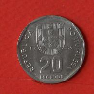 PORTUGAL  20  ESCUDOS  1986   KM# 634,1  -    (Nº02407) - Portogallo