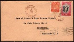 GUATEMALA DEP. OF SAN MARCOS 1951 - MAILED ENVELOPE - 6th CENTROAMERICAN & CARIBBEAN SPORTS GAMES - ATHLETICS - Atletica
