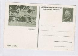 YUGOSLAVIA,postal Stationery ,SUBOTICA - Jugoslawien