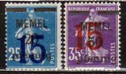 Memel 1921 Mi 47-48 * [190513L] @ - Memelgebiet