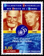 France N° 3209 ** René Cassin - Elaonor Roosevelt - Palais De Chaillot - Francia
