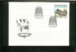 SLOVENSKO  -  SLOVACCHIA  -  FDC  -    WOODEN  BRIDGE  IN  KLUKNAVA - FDC