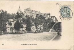 PARIS  - 75 - CPA DOS SIMPLE DE 1905 - Le Square Saint Pierre  - 190513 - Squares