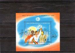 1985 - Anne Inter. De La Jeunesse Mi Bloc 214 Et Yv Bloc 173 MNH - 1948-.... Republics