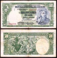 * URUGUAY: 500 Pesos (serie C, 1939) VF - Uruguay