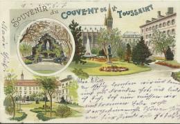 67 CPA Strasbourg Souvenir Couvent De La  Toussaint Grotte Litho 1901 - Strasbourg
