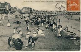 CP, 85, Les Sables D'Olonne, Vue Générale De La Plage à L'heure Des Bains, Voyagé En 1908 - Sables D'Olonne