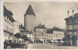 Bulle Place De L´Union, Une Voiture - FR Fribourg