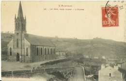 LE GUA PRES AUBIN AVEYRON 43 L´EGLISE ED. LABOUCHE ECRITE CIRCULEE EN 1912 - Otros Municipios