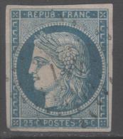 Cérès N° 4 (Variété, Filet Du Bas Brisé) Avec Oblitération Losange 441  TB - 1849-1850 Ceres