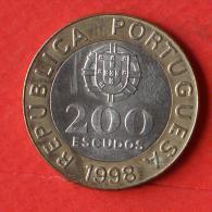 PORTUGAL  200  ESCUDOS  1998   KM# 655  -    (Nº02472) - Portugal