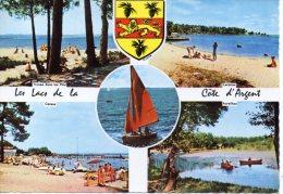 CP - PHOTO - LES LACS DE LA COTE D'ARGENT - MULTIVUES - 4 - CIM - TROUEE DANS LES PINS - LACANAU - CAZAUX - AUREILHAN - Frankrijk