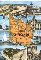 CP - PHOTO - GIRONDE - 33 - CARTE - MULTIVUES - 1691 - CAP -LIBOURNE - BORDEAUX - SOULAC SUR MER - CAP FERRET - ARCACHON - France