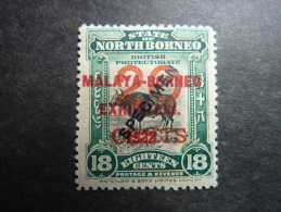 BORNEO NORD, Année 1922, YT N° 210 A , Neuf, Très Légère Trace Charnière, Très Bon état - Nordborneo (...-1963)
